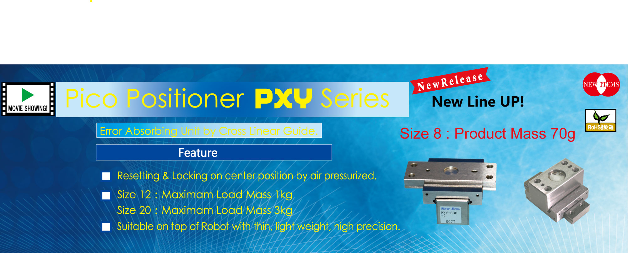 PXY series Pico Positioner